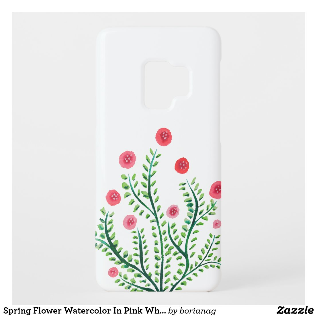 Spring Flower Watercolor In Pink White Green Case-Mate Samsung Galaxy S9 Case