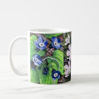 Spring flowers 2 basic white mug