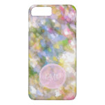 Spring Flowers Abstract Art Monogram iPhone 7 Plus Case