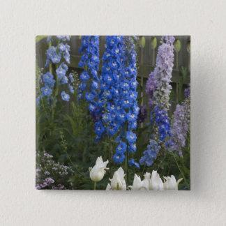 Spring flowers along a garden path, Georgia 2 15 Cm Square Badge