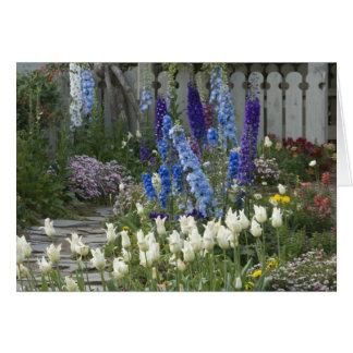 Spring flowers along a garden path, Georgia Card