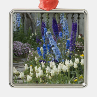 Spring flowers along a garden path, Georgia Christmas Ornament