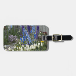 Spring flowers along a garden path, Georgia Luggage Tag