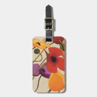 Spring Flowers and Stems Luggage Tag