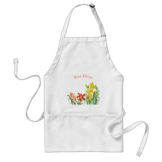 Spring Flowers Botanical Illustration Standard Apron