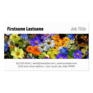 Spring Flowers Pack Of Standard Business Cards