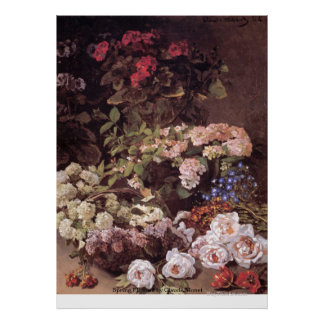 Spring Flowers by Claude Monet Poster