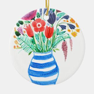 Spring Flowers Christmas Ornament