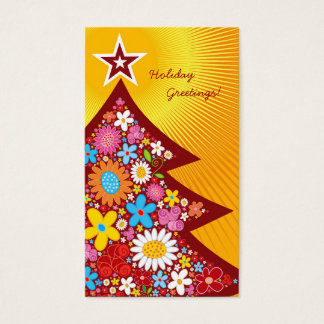 Spring Flowers Christmas Tree Thank You / Gift Tag