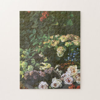 Spring Flowers Claude Monet Fine Art Jigsaw Puzzle