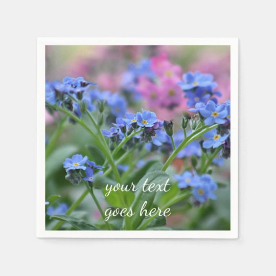 Spring flowers disposable serviette