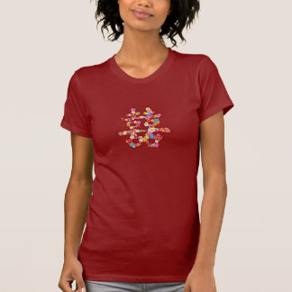 Spring Flowers Double Happiness Chinese Wedding T Shirts