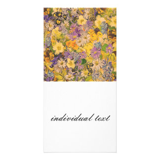 spring flowers effect personalized photo card
