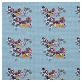 Spring Flowers -Fabric Polyester Poplin Fabric