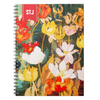 Spring Flowers. Fine Art Easter Gift Notebooks