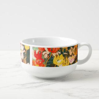 Spring Flowers. Fine Art Easter Gift Soup Mugs