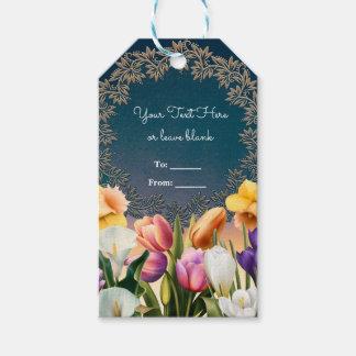 Spring Flowers Floral Frame Elegant Chic Favor Gift Tags