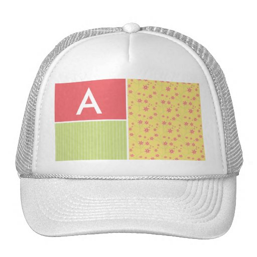 Spring Flowers; floral Mesh Hats
