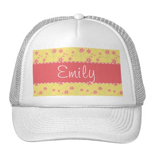Spring Flowers; Floral Pattern Trucker Hats