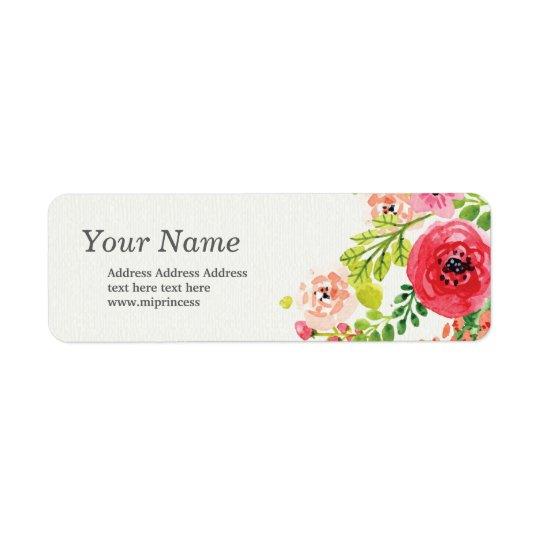 spring flowers floral  return address stickers