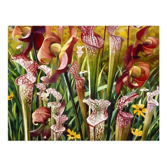 """Spring Flowers"" Floral Watercolor Art Postcard"