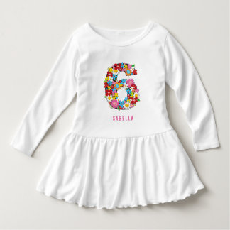 Spring Flowers Garden Six Girl 6th Birthday Party Tshirts