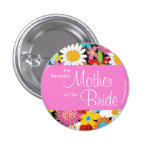 Spring Flowers Garden Wedding Bride Sweet Name Tag Button
