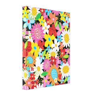Spring Flowers Garden Whimsical Nursery Wall Art Canvas Print
