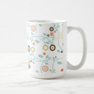 Spring flowers girly mod chic floral pattern coffee mug