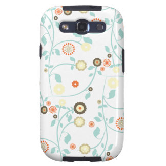 Spring flowers girly mod chic floral pattern galaxy SIII cases