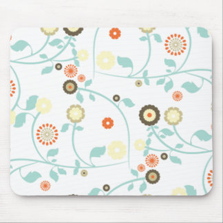Spring flowers girly mod chic floral pattern mouse pad