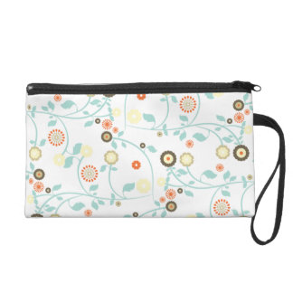 Spring flowers girly mod chic floral pattern wristlet