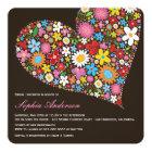 Spring Flowers Heart Bridal Shower Luncheon Invite