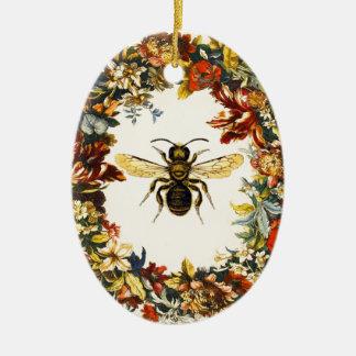SPRING FLOWERS HONEY BEE BEEKEEPER BEEKEEPING CHRISTMAS ORNAMENTS