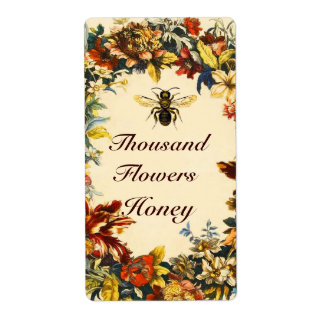 SPRING FLOWERS HONEY BEE ,BEEKEEPER SHIPPING LABEL