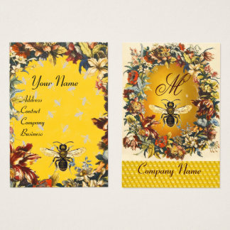 SPRING FLOWERS HONEY BEE ,BEEKEEPING,BEEKEEPER BUSINESS CARD