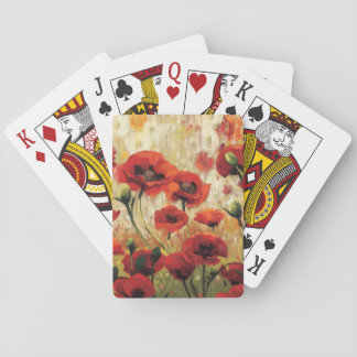 Spring Flowers in a Garden Playing Cards