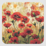 Spring Flowers in a Garden Square Stickers