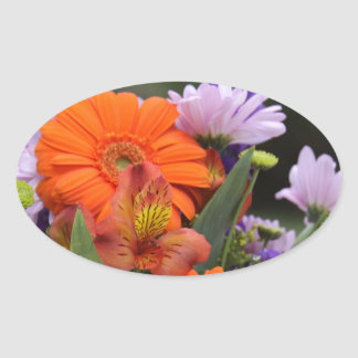 Spring flowers in a vase sticker
