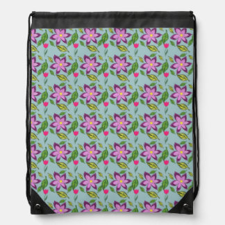Spring Flowers in purple, lilac and fuchsia, bag