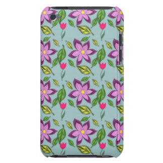 Spring Flowers - in purple, lilac and fuchsia iPod Case-Mate Cases