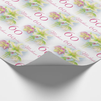 Spring flowers mother 60th birthday wrap wrapping paper