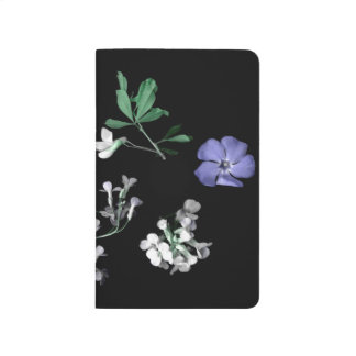Spring flowers on black Pocket Journal