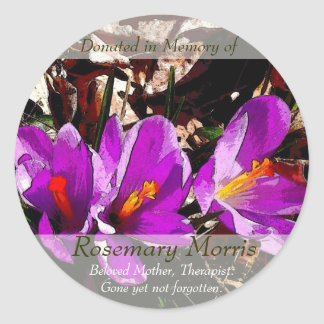 Spring flowers painting ~ Donated in Memory of Classic Round Sticker