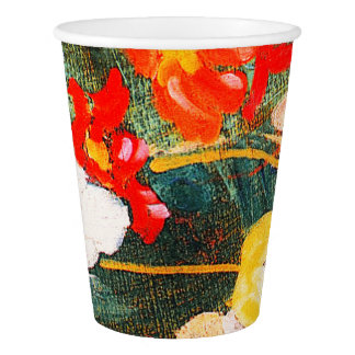 Spring Flowers Painting Easter Brunch Paper Cups