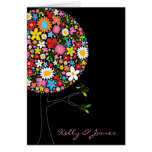 Spring Flowers Pop Tree Invitation / Announcement Greeting Card