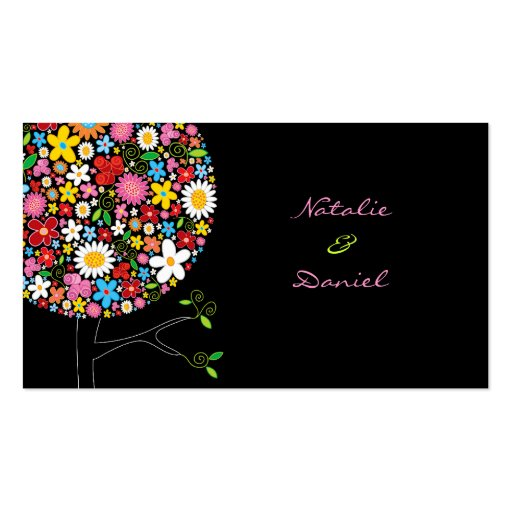Spring Flowers Pop Tree Place Card / Table Card / Business Card