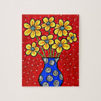 Spring Flowers Puzzle with Gift Box