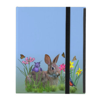 Spring Flowers, Robin,  and Bunny Rabbit Cases For iPad