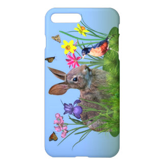 Spring Flowers, Robin, and Bunny Rabbit iPhone 8 Plus/7 Plus Case